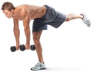 peso muerto con una pierna ejercicio para femorales