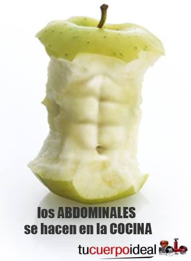 Como marcar los abdominales. Los abdominales se consiguen en la cocina reduciendo el porcentaje de grasa corporal y obteniendo mayor tonificación y definición muscular.
