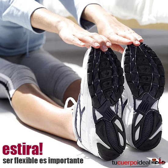 La flexibilidad es una de las bases de un cuerpo saludable. Estar flexible es fundamental para encarar todas tus actividades diarias sin inconvenientes y para mantener tus articulaciones blandas y flexibles. Para estar flexible lo mejor es hacer estiramientos antes y después de hacer ejercicio.