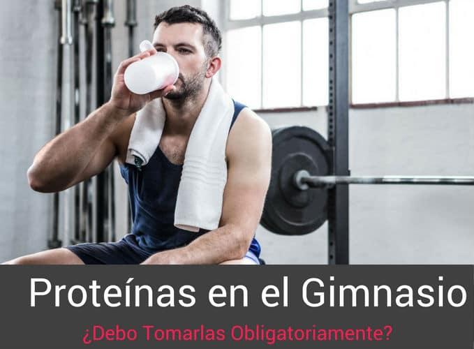 Tomar Batidos de Proteinas en el Gimnasio