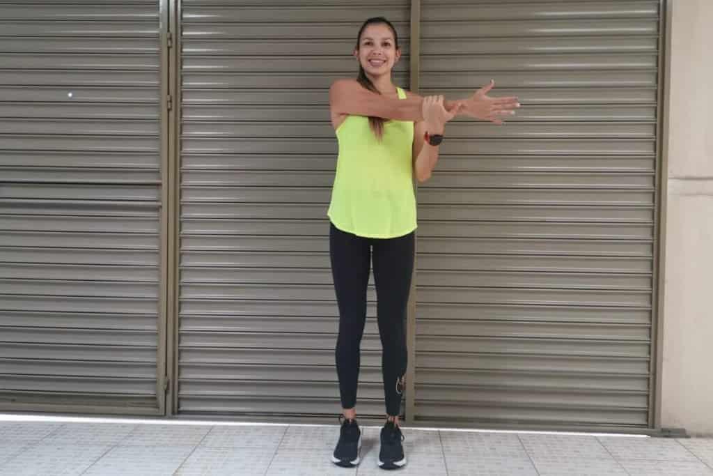 Aducción horizontal de brazo