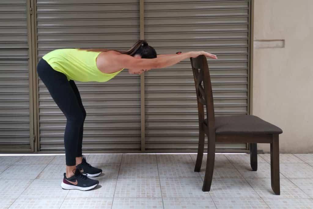 Flexión de tronco sobre soporte